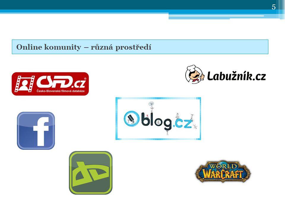 Online komunity – různá prostředí 5