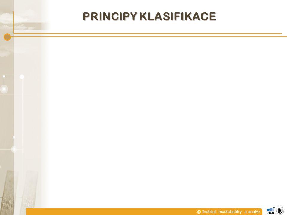 © Institut biostatistiky a analýz PRINCIPY KLASIFIKACE