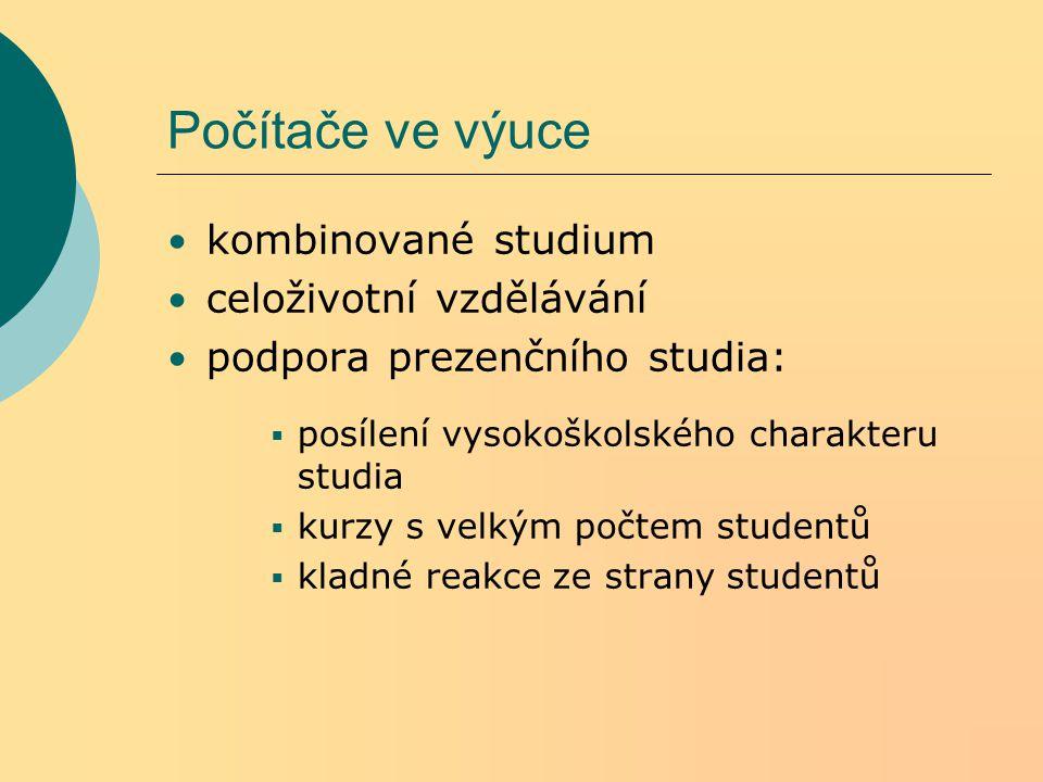 Studijní materiály texty (Word, html,.pdf, prezentace v power pointu atd.) obrázky, mapky naskenované materiály (např.