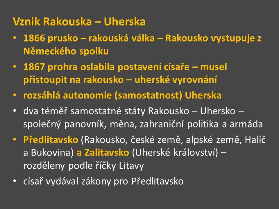 Rakousko – Uhersko 1867 červená - Předlitavsko - Horní a Dolní Rakousy, Salcbursko, Štýrsko, Korutany, Tyroly, Vorarlbersko, Istrie, Gorica, Terst, Dalmácie, Čechy, Morava, rakouská část Slezska, Halič a Bukovina oranžová - Zalitavsko - Uherské království, Království chorvatsko- slavonské, svobodný přístav Rijeka žlutá - Bosna http://leccos.com/index.php/clanky/rakouskouhersko