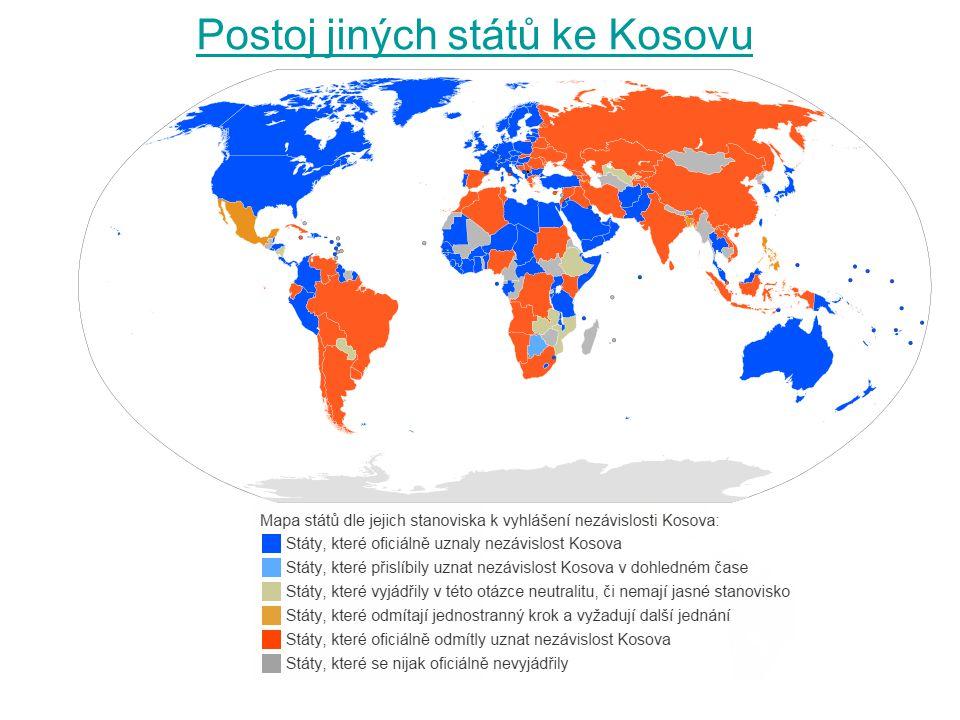Postoj jiných států ke Kosovu