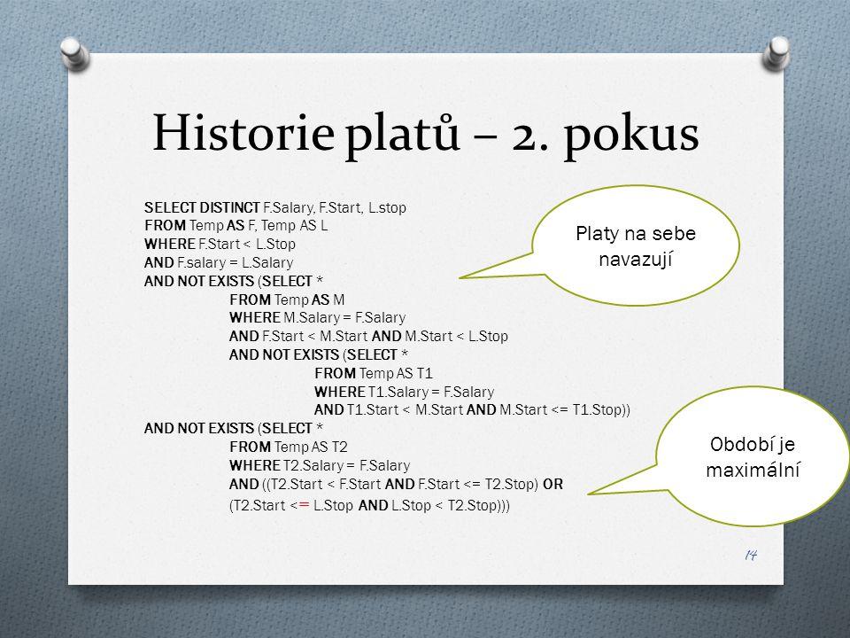 Historie platů – 2.