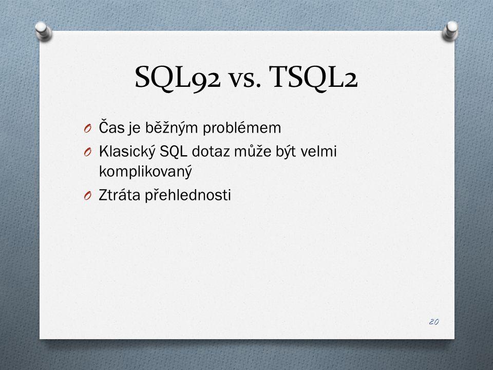 SQL92 vs.