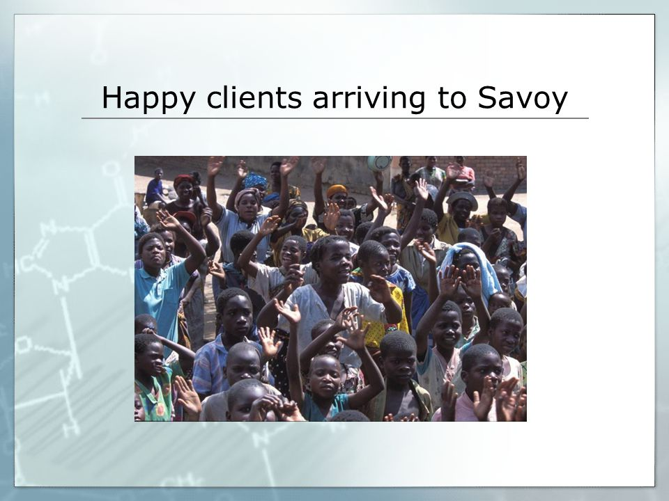 Happy clients arriving to Savoy