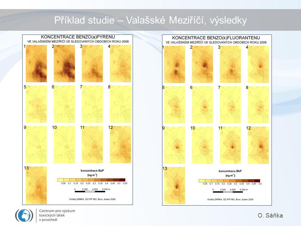 Příklad studie – Valašské Meziříčí, výsledky O. Sáňka