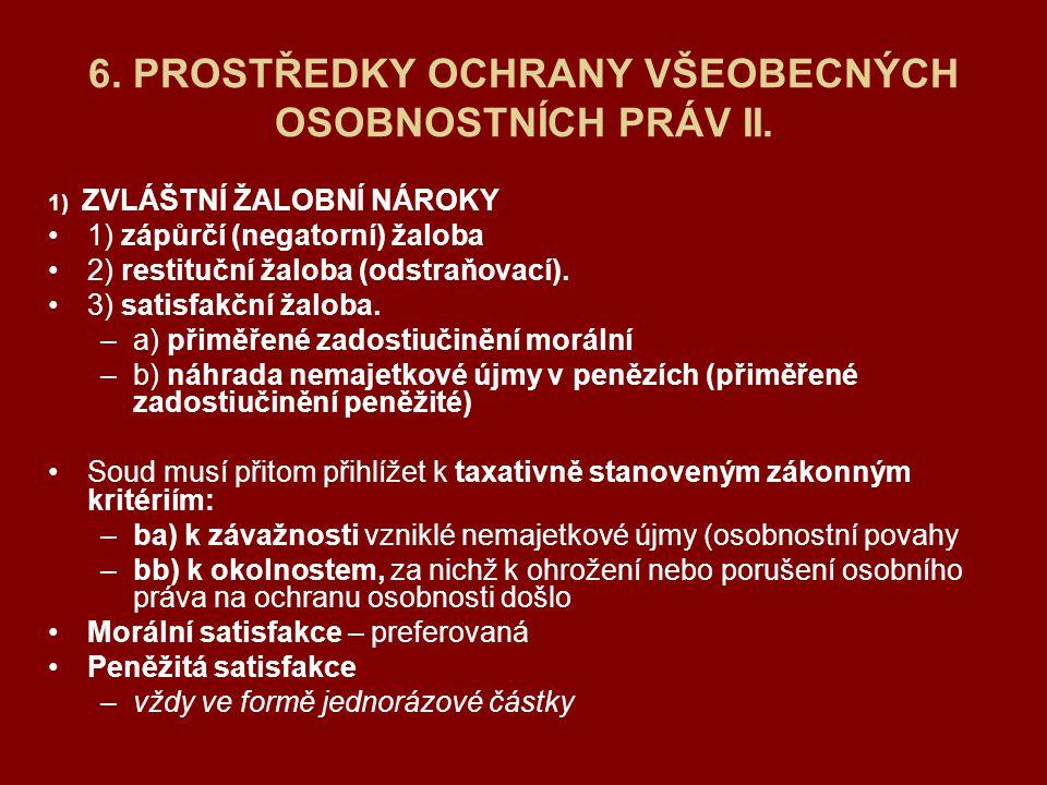 Soudní příslušnost u sporů z ochrany osobnosti: § 9 ODST.