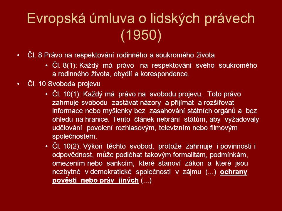 Klíčová judikatura ESLP Lingens v.