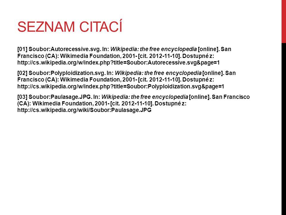 SEZNAM CITACÍ [01] Soubor:Autorecessive.svg.In: Wikipedia: the free encyclopedia [online].
