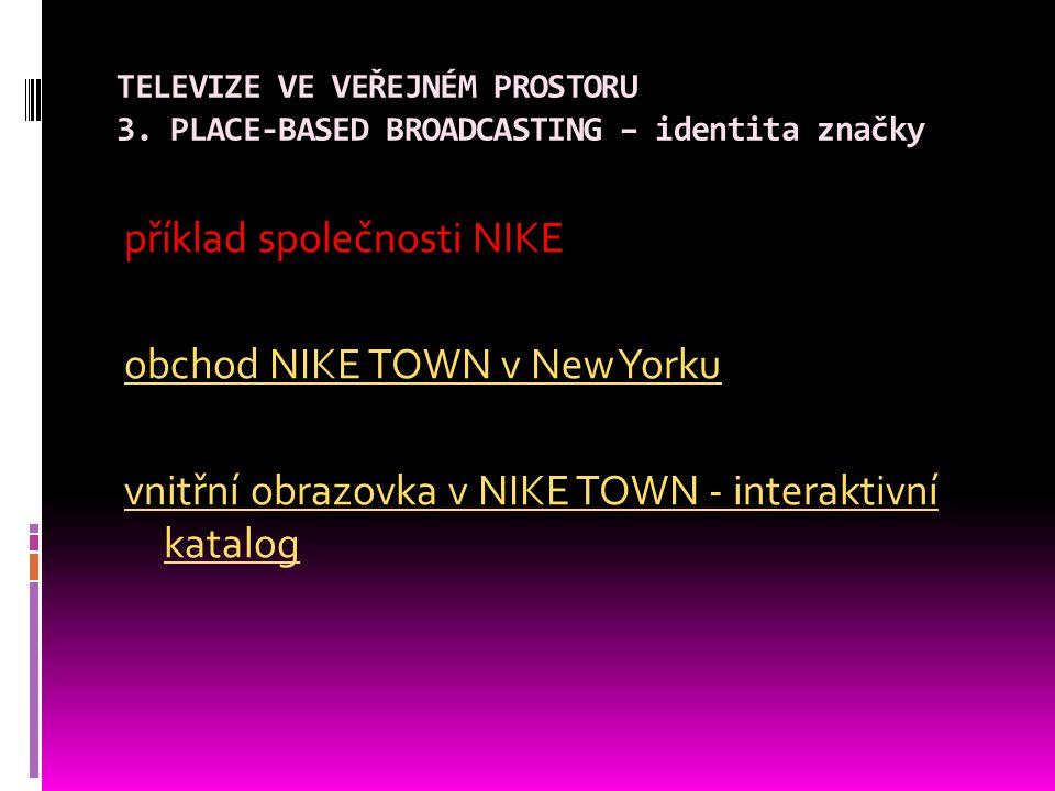 TELEVIZE VE VEŘEJNÉM PROSTORU 3.