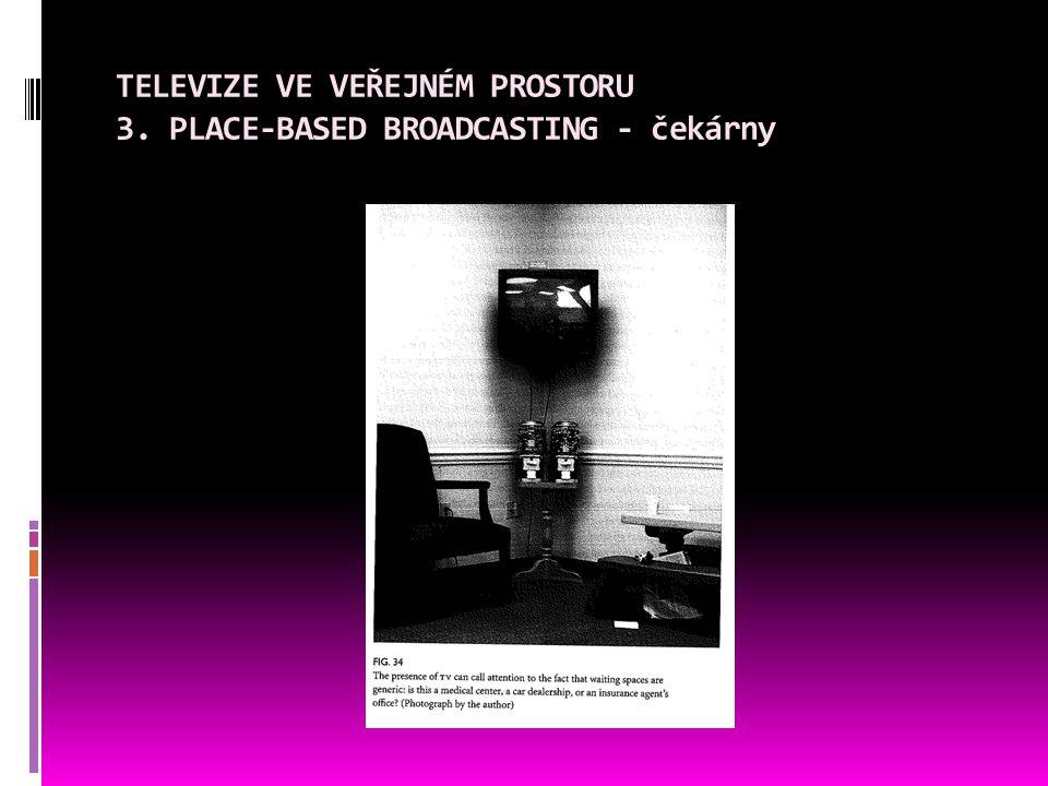 TELEVIZE VE VEŘEJNÉM PROSTORU 3. PLACE-BASED BROADCASTING - čekárny