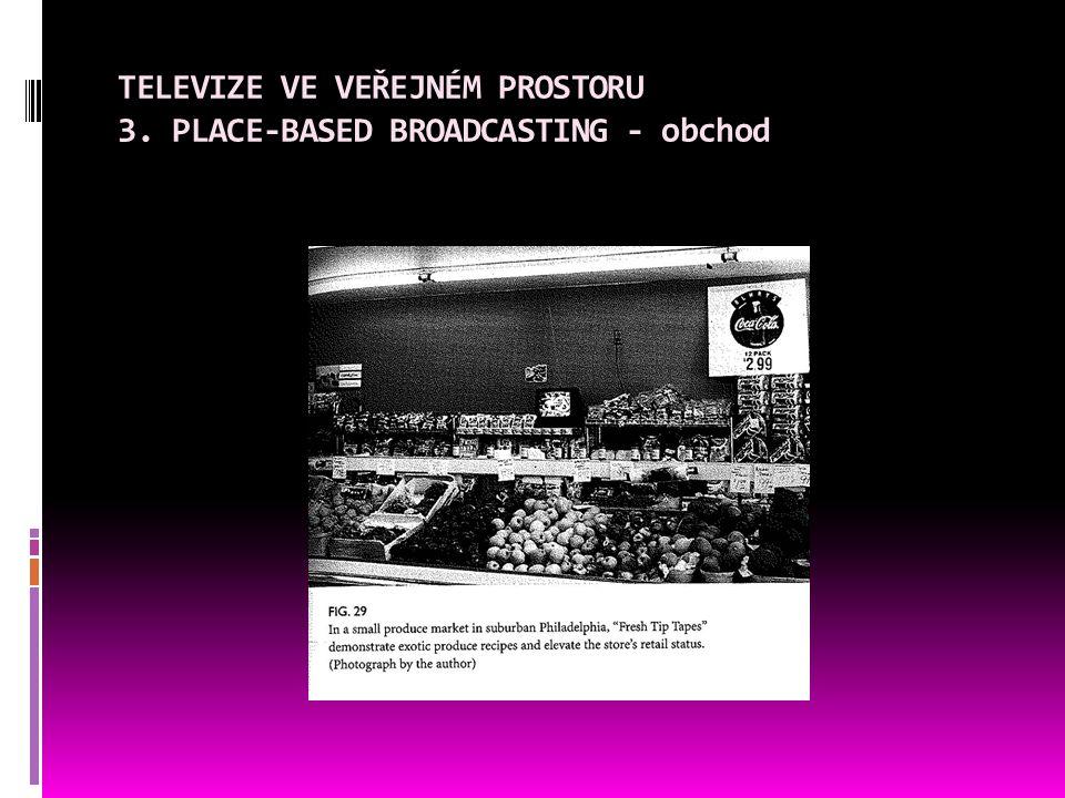 TELEVIZE VE VEŘEJNÉM PROSTORU 3. PLACE-BASED BROADCASTING - obchod