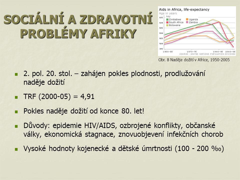 SOCIÁLNÍ A ZDRAVOTNÍ PROBLÉMY AFRIKY 2.pol. 20. stol.