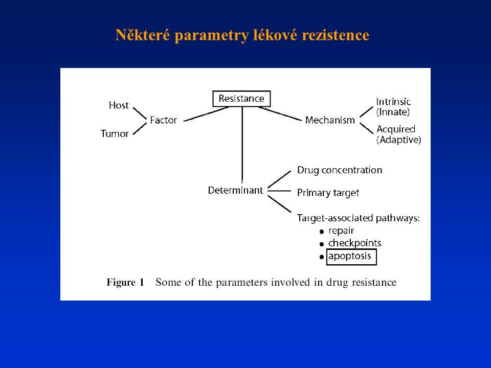 Některé parametry lékové rezistence