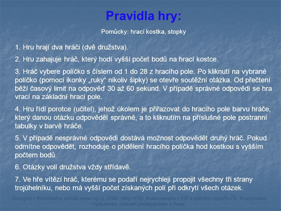 ŘEŠENÍ metr ZPĚT Dostupné z Metodického portálu www.rvp.cz, ISSN: 1802–4785, financovaného z ESF a státního rozpočtu ČR.