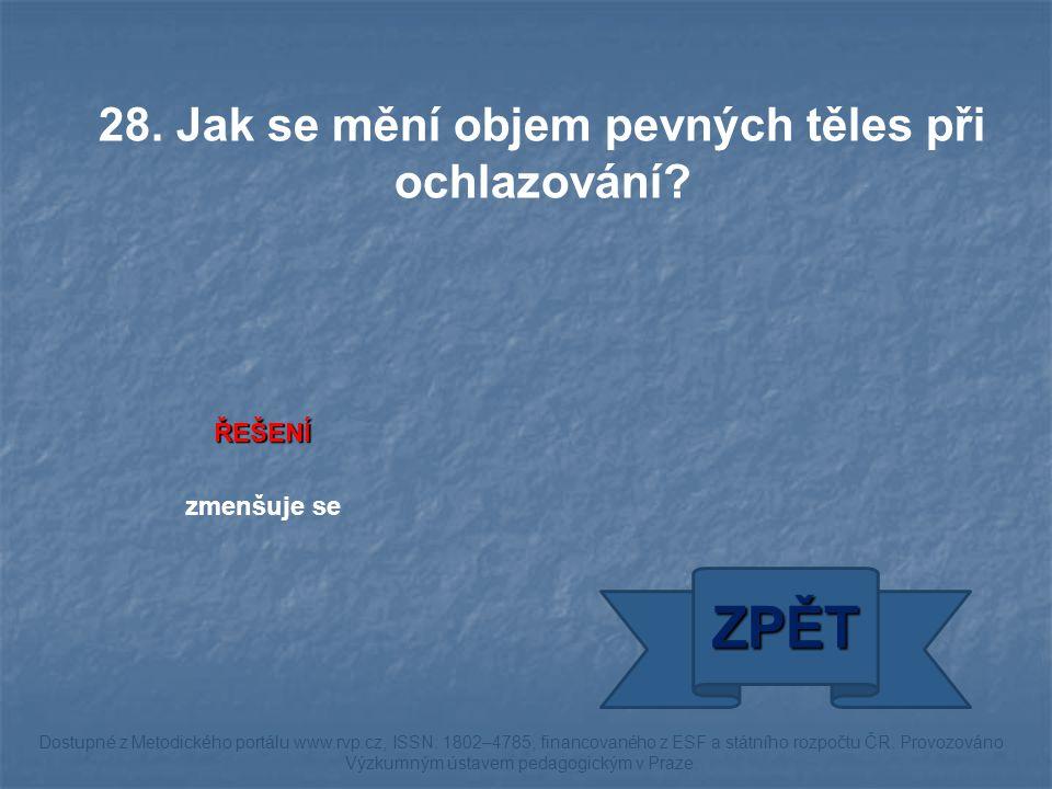 ŘEŠENÍ zmenšuje se ZPĚT Dostupné z Metodického portálu www.rvp.cz, ISSN: 1802–4785, financovaného z ESF a státního rozpočtu ČR.