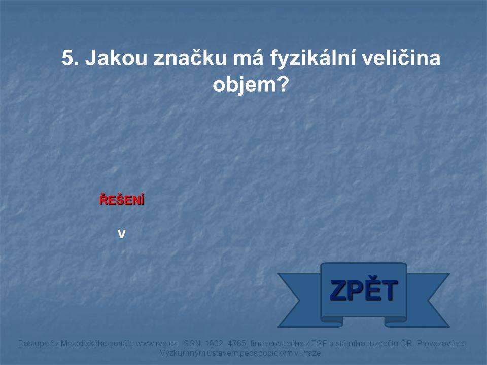 ŘEŠENÍ kilogram na metr krychlový ZPĚT Dostupné z Metodického portálu www.rvp.cz, ISSN: 1802–4785, financovaného z ESF a státního rozpočtu ČR.