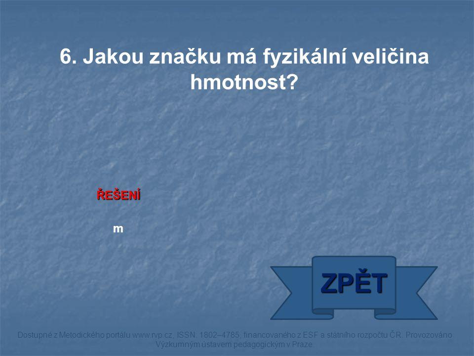 ŘEŠENÍ hustoměr ZPĚT Dostupné z Metodického portálu www.rvp.cz, ISSN: 1802–4785, financovaného z ESF a státního rozpočtu ČR.