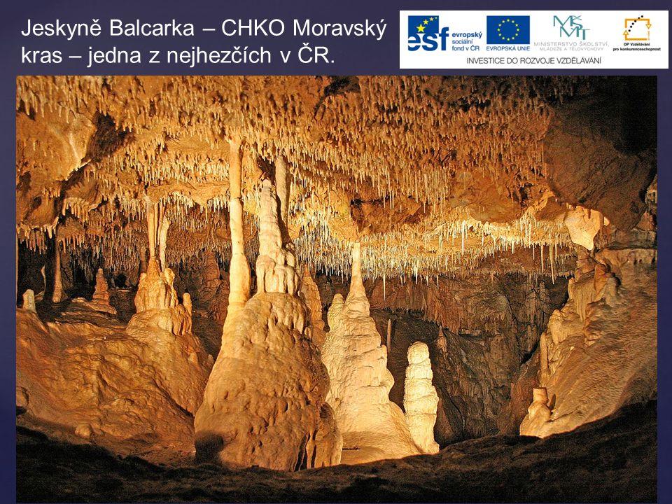 Jeskyně Balcarka – CHKO Moravský kras – jedna z nejhezčích v ČR.
