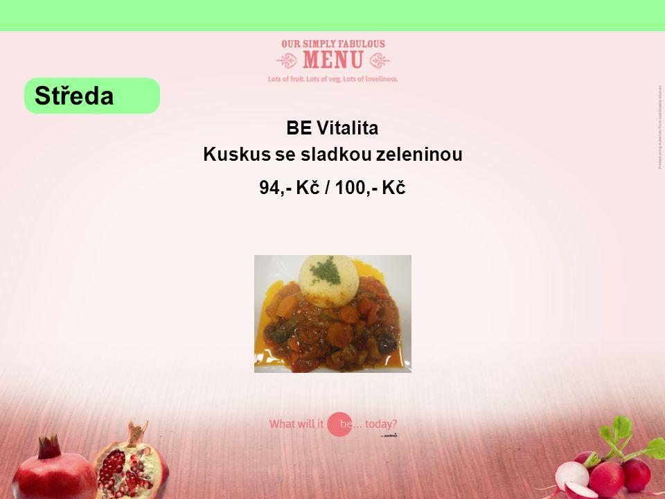 BE Grill Vepřová játra na roštu, brambory, tatarka 95,- Kč / 101,- Kč Středa