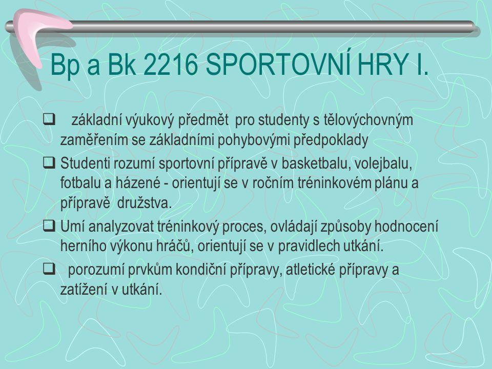 Bp a Bk 2216 SPORTOVNÍ HRY I.