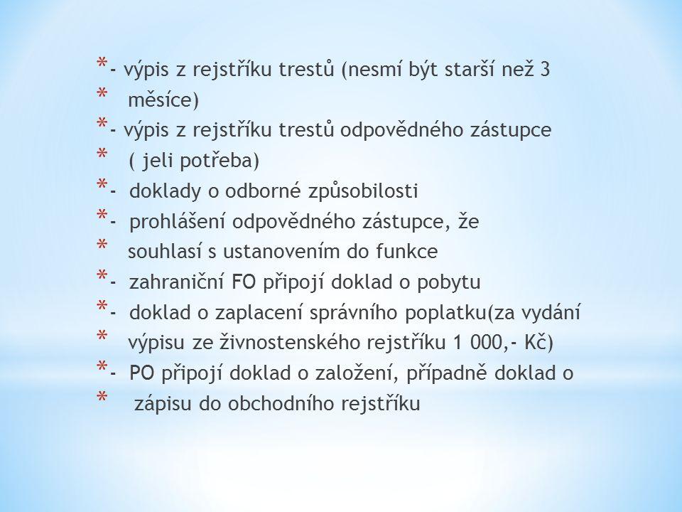 * Pracovní list č.