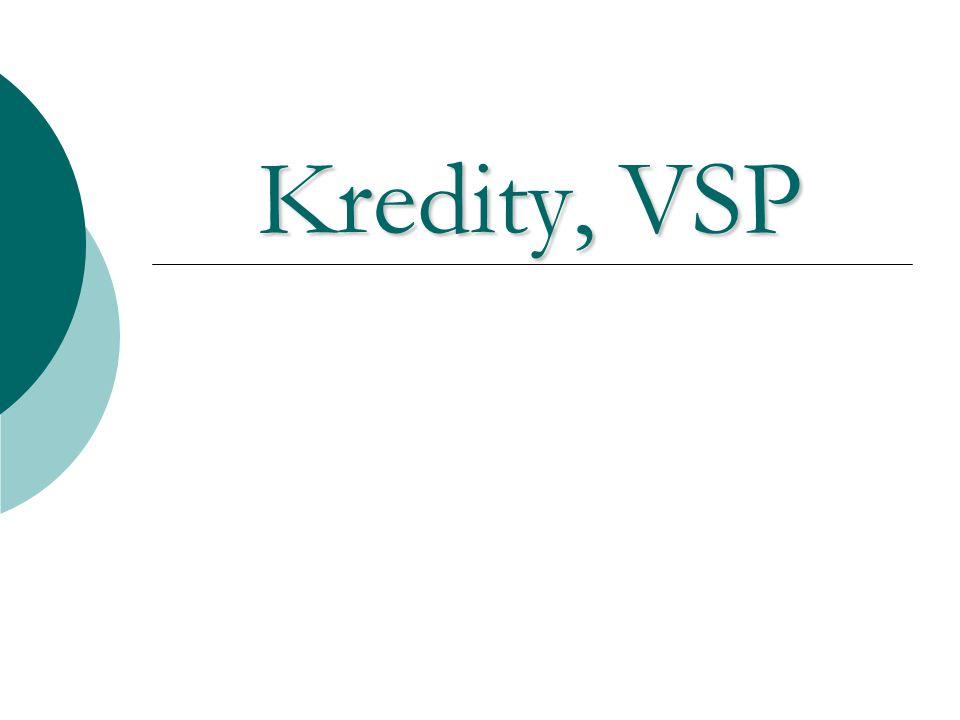 Kredity, VSP