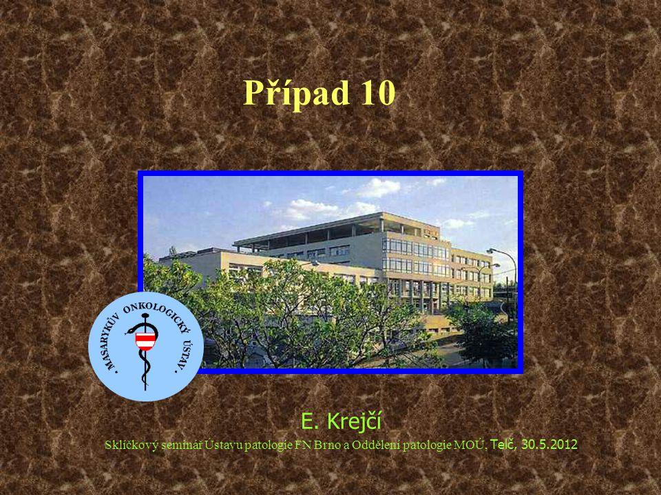 Případ 10 E. Krejčí Sklíčkový seminář Ústavu patologie FN Brno a Oddělení patologie MOÚ, Telč, 30.5.2012