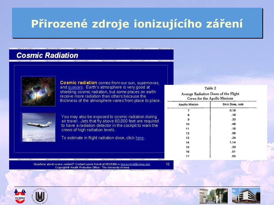 Přirozené zdroje ionizujícího záření