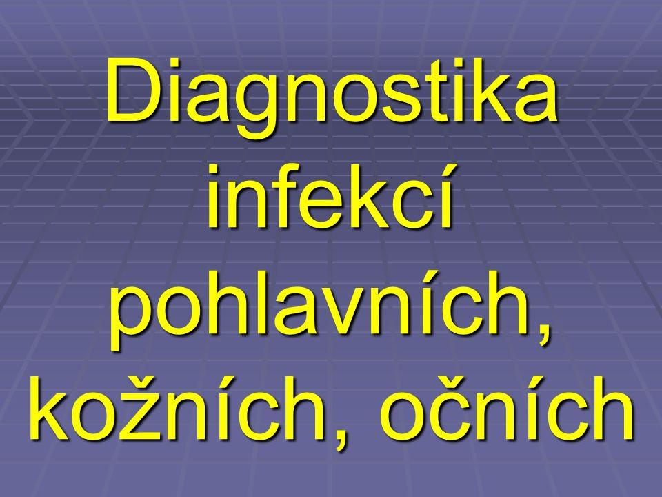 Diagnostika infekcí pohlavního systému – obecné shrnutí  Ke kultivaci se používá transportně kultivační souprava C.