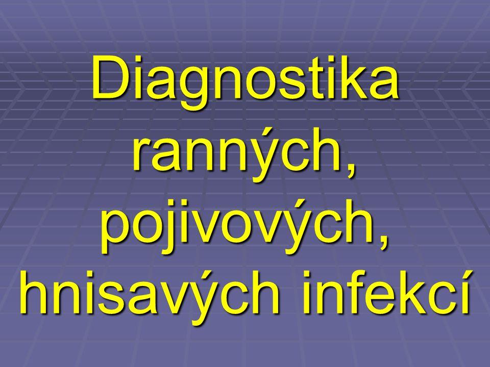 Odběry u hlubokých ložiskových infekcí (1)  Je-li v ložisku přítomen v dostatečném množství hnis či jiná tekutina (výpotek, obsah cysty a podobně), měla by být poslána tato tekutina ve zkumavce a nikoli pouze stěr  U podezření na anaerobních infekci (zejména hnis z dutiny břišní) je doporučeno zaslání ve stříkačce.