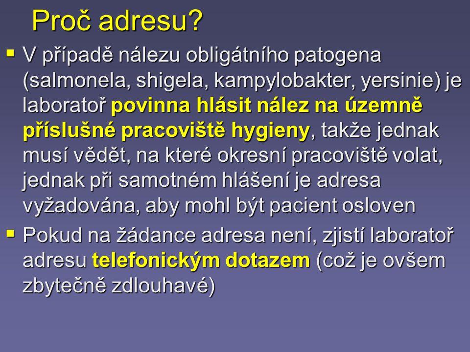 Odběr kusové stolice (na parazity, toxin C.