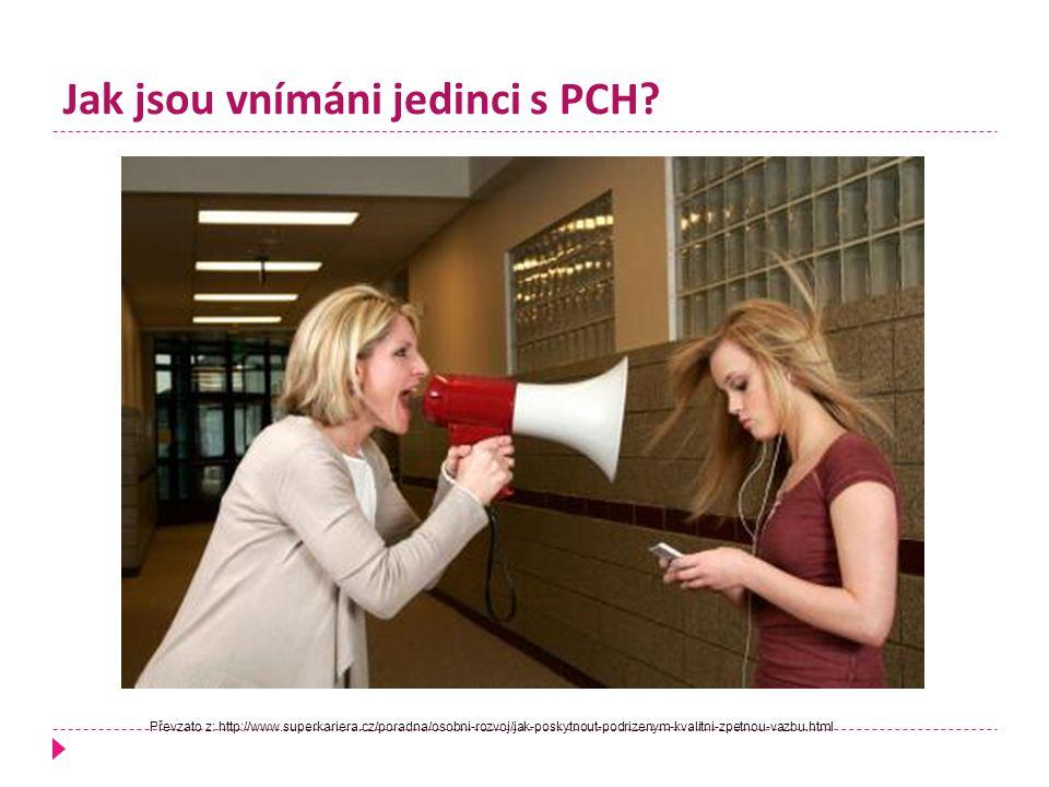 Jak jsou vnímáni jedinci s PCH? Převzato z: http://www.superkariera.cz/poradna/osobni-rozvoj/jak-poskytnout-podrizenym-kvalitni-zpetnou-vazbu.html