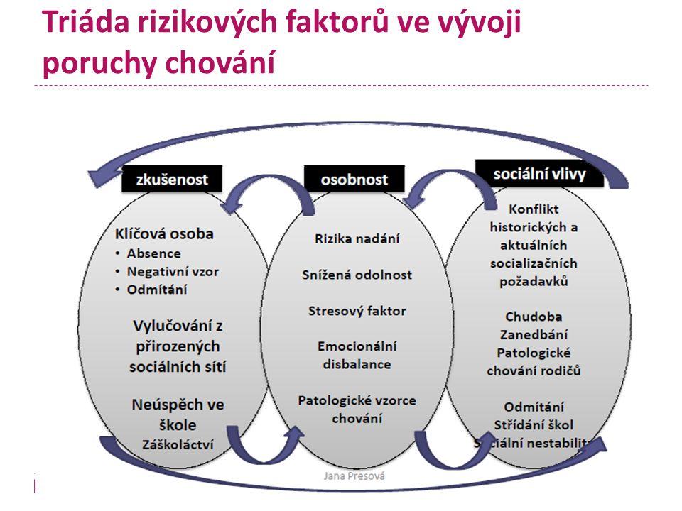 Triáda rizikových faktorů ve vývoji poruchy chování