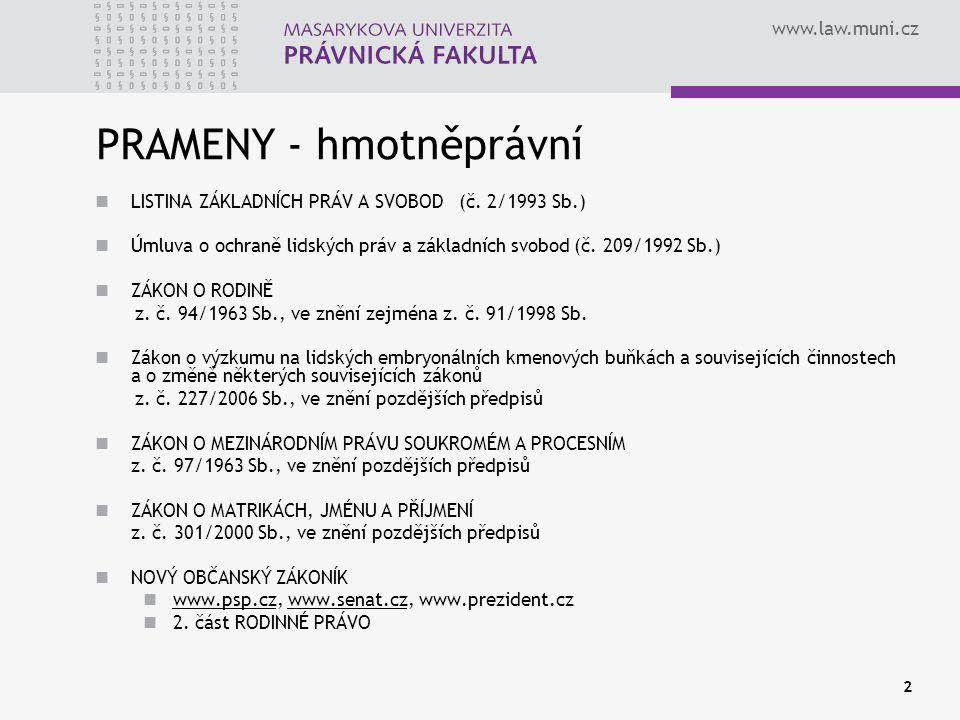 www.law.muni.cz 3 PRAMENY - procesněprávní OBČANSKÝ SOUDNÍ ŘÁD z.