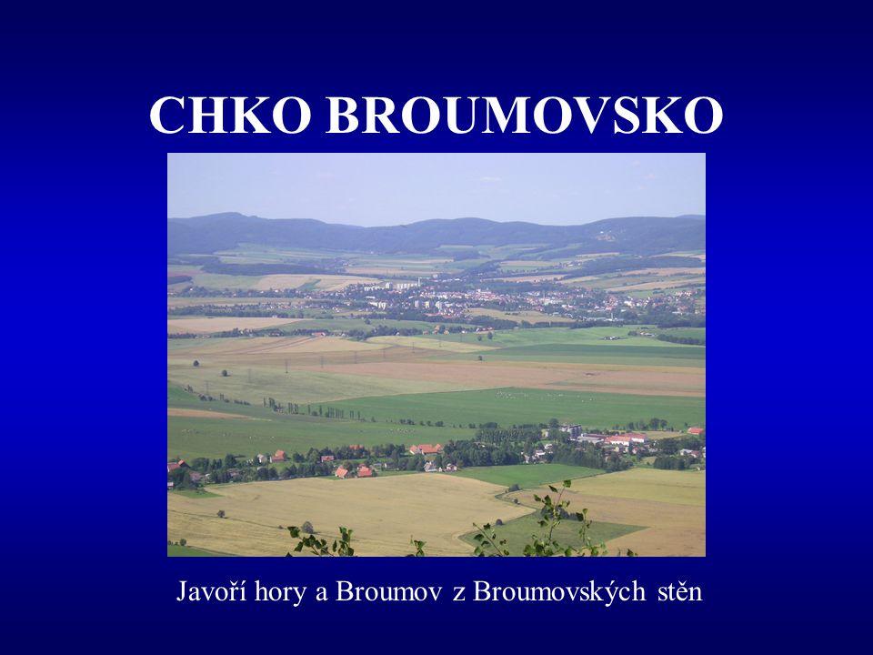 CHKO BROUMOVSKO Vznik –157 / 1991 Sb. –1. Květen 1991