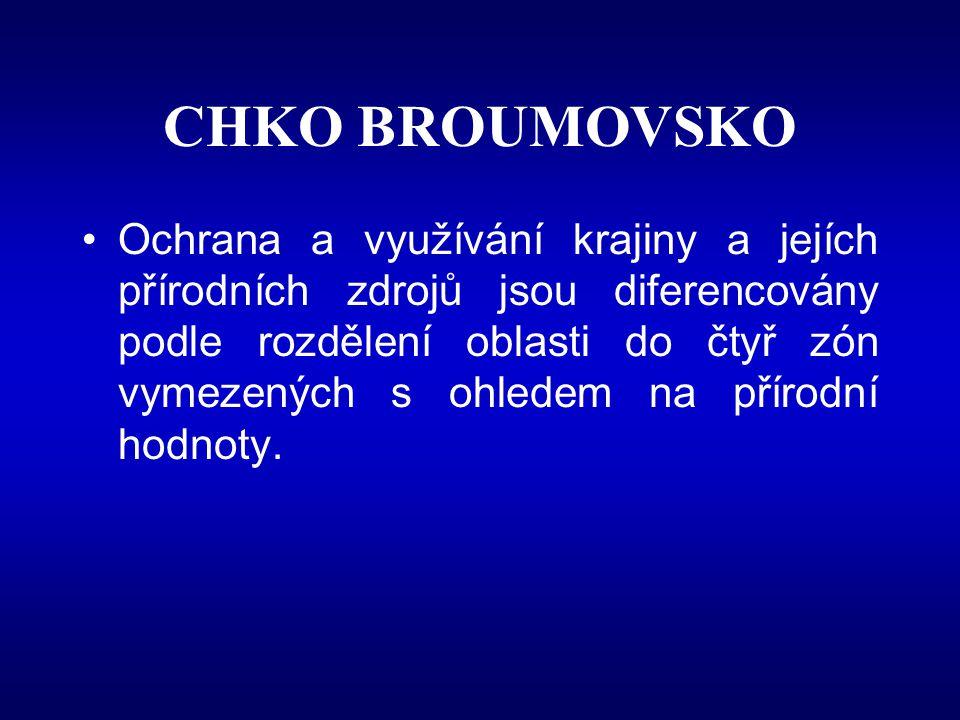 Zóny ochrany přírody v CHKO Broumovsko