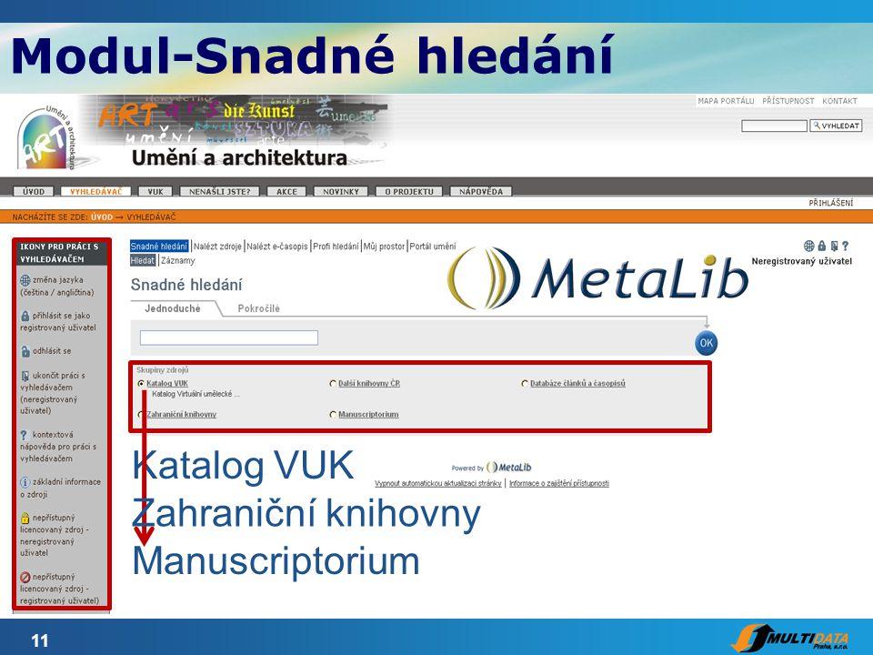 11 Katalog VUK Zahraniční knihovny Manuscriptorium Modul-Snadné hledání