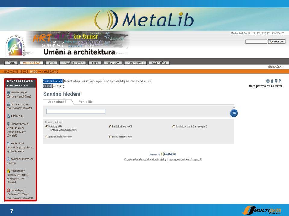 18 MetaLib a SFX v bráně KIV
