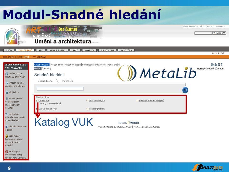 10 Katalog VUK Zahraniční knihovny Modul-Snadné hledání