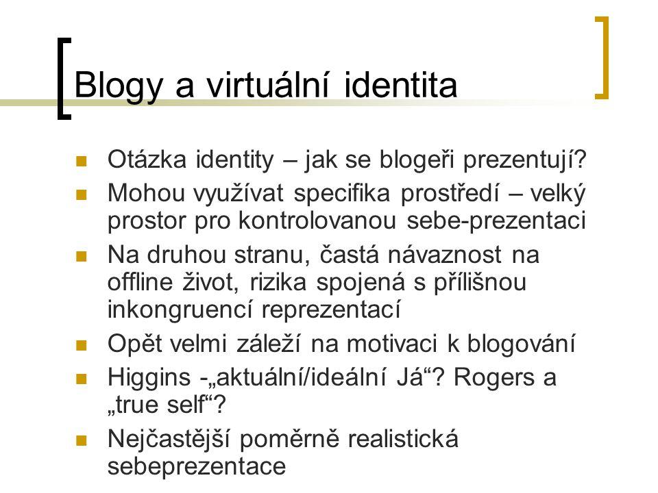 Důvod k výzkumu blogů.Jaká mohou být témata či oblasti zájmu pro psychology.