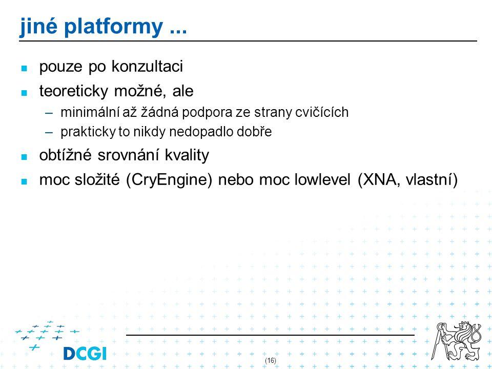 (16) jiné platformy...
