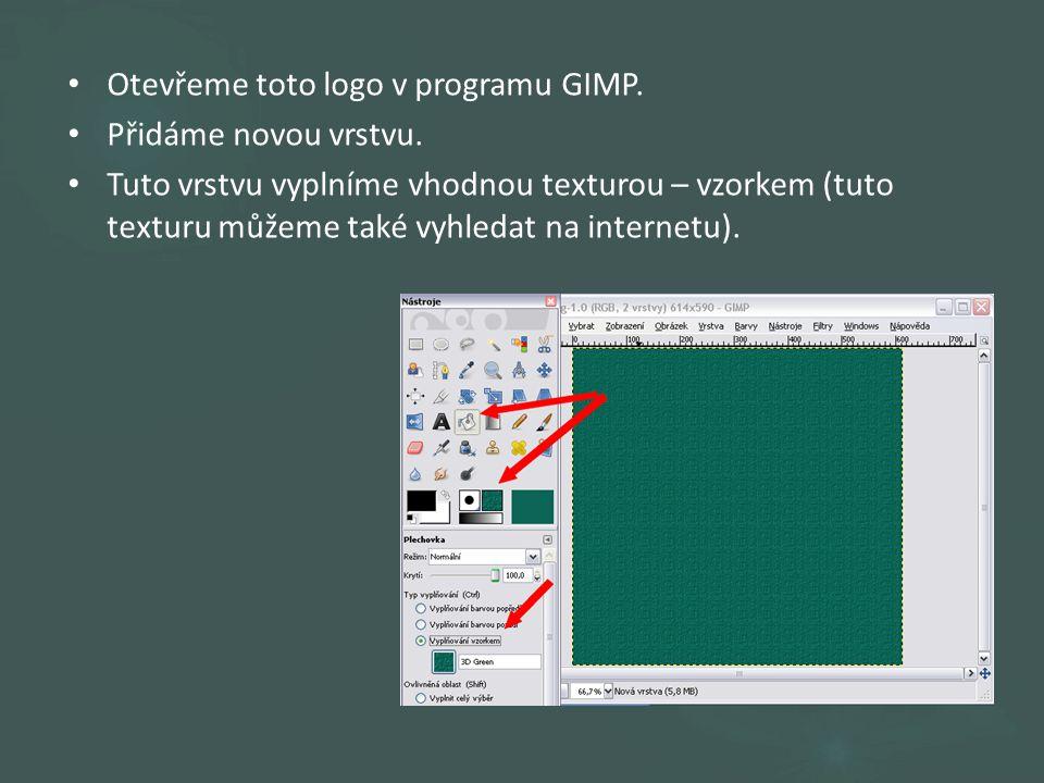 Otevřeme toto logo v programu GIMP. Přidáme novou vrstvu.