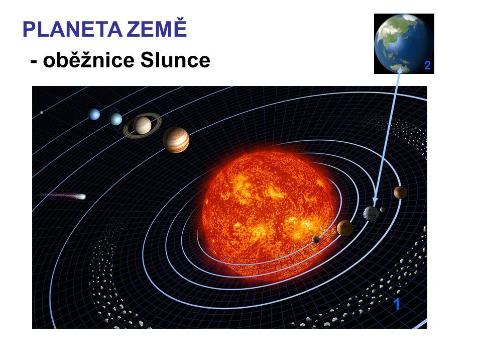 1 PLANETA ZEMĚ - oběžnice Slunce 2