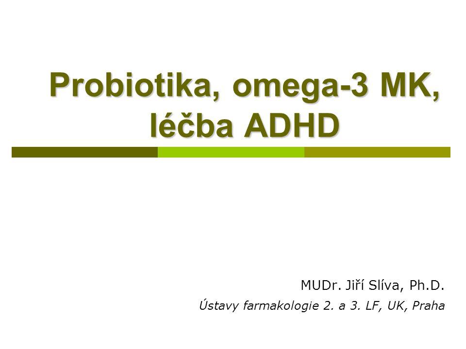 Probiotika, omega-3 MK, léčba ADHD MUDr.Jiří Slíva, Ph.D.
