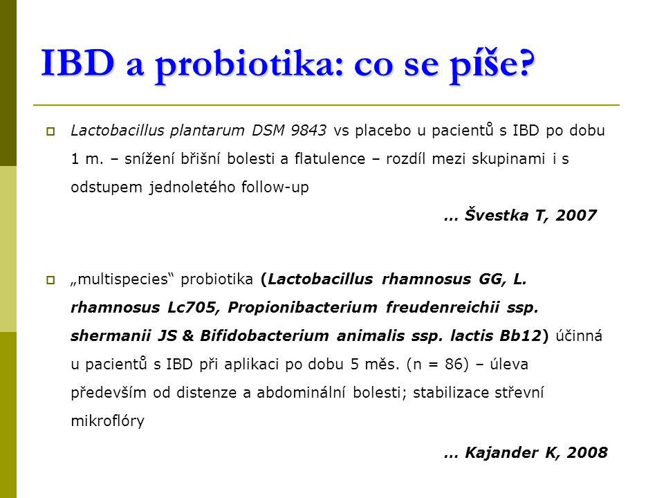 IBD a probiotika: co se p íš e.