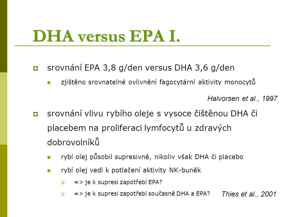 DHA versus EPA I.