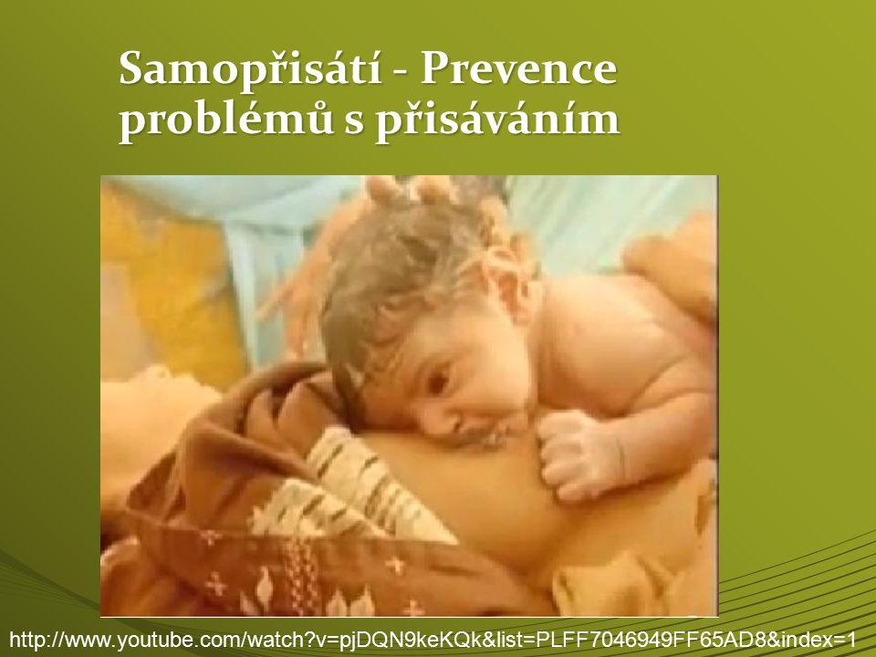 Samopřisátí - Prevence problémů s přisáváním http://www.youtube.com/watch?v=pjDQN9keKQk&list=PLFF7046949FF65AD8&index=1
