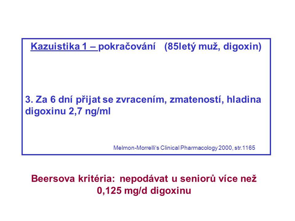 Beersova kritéria: léčiva potenciálně nevhodná ve stáří z hlediska diagnóz (příklady): Fick D.M.