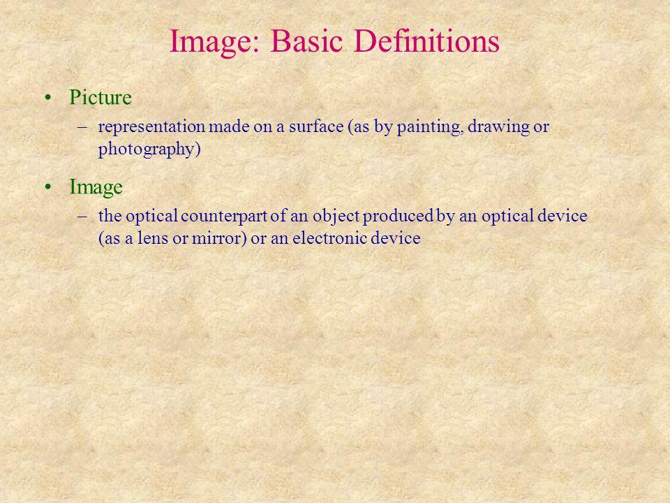 Image acquisition (pořizování obrazu) Optical devices (optická zařízení) (used for the manipulation with visible, UV and IR light) –lens (čočka) –mirror (zrcadlo) –filter (filtr, propouští vybrané vlnové délky) –dichroic mirror (dichroické zrcadlo, vybrané vlnové délky odráží, ostatní vlnové délky propouští) –beam-splitter (dělič svazku, dělí světlo podle vlnové délky, většinou jde o dichroické zrcadlo) –polarizer (polarizátor, propouští pouze tu část světla, která má příslušnou polarizaci) –objective (objektiv, propracovaná a vyvážená soustava čoček) –microscope (mikroskop, opt.
