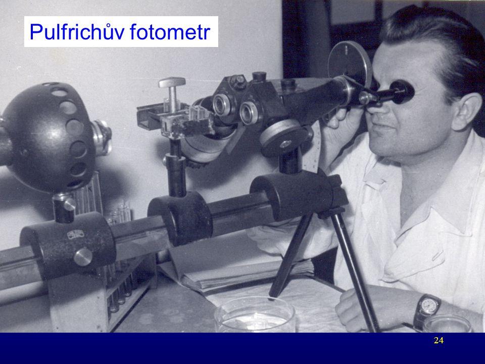 24 Pulfrichův fotometr